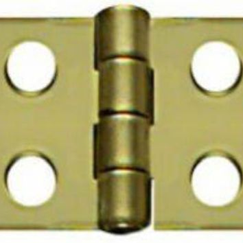 """National Hardware® N211-862 Decorative Hinges, 3/4"""" x 1-13/16"""", Bright Brass, 2-Pack"""