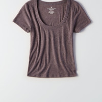 AEO Soft & Sexy Plush Shrunken T-Shirt, Gray
