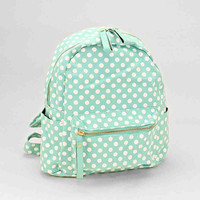 Polka Dots Backpack Mint