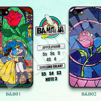 Disney, Beauty and the Beast, Rose, iPhone 5 case, iPhone 5S case, iPhone 5c case, Phone case, iPhone 4 Case, iPhone 4S Case, B&B01