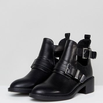 Pimkie Cut Out Buckle Boots at asos.com