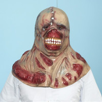 Bald Scary Full FACE Halloween Skull Ghost Zombie Mask EVIL Latex Photo Props Movie Cosplay Mardi Gras Theme Ball Party Masks