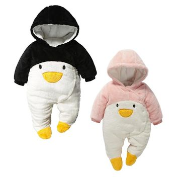 newborn baby winter jumpsuits quilted padding baby clothing down coat snow wear warm jacket snowsuits toddler boys girl clothes