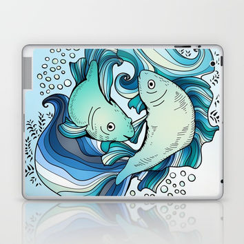 Pisces Laptop & iPad Skin by MIKART
