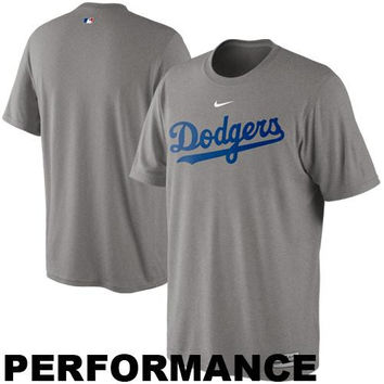 Nike L.A. Dodgers Legend Practice Performance T-Shirt - Gray