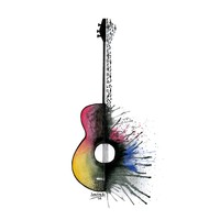 Guitar, an art print by Ioanna Kolokotroni