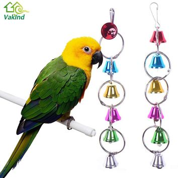 Cage Hanging Metal Ring Bell Toy For Parrot