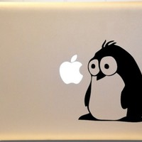Fluffy Penguin Macbook Decal Vinyl Sticker for Mac PC Laptop