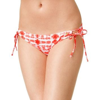 Raisins Womens Tie-Dye Side Tie Swim Bottom Separates