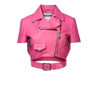 Leather Outerwear Women - Moschino Online Store