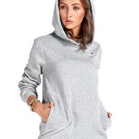 Gray Zippered Detail Hoodie