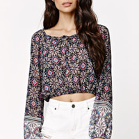 LA Hearts Long Sleeve Print Top at PacSun.com