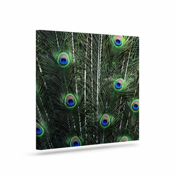 "Robin Dickinson ""Glory"" Peacock Green Canvas Art"