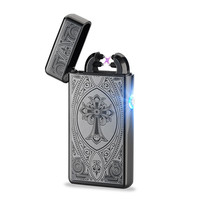 New Designer Rechargeable Flameless Electric Double Plasma Windproof Lighter