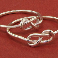 Infinity love knot figure 8 sterling silver ring by TDNCreations