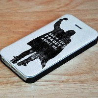 John BEnder Quotes Wallet Case for iPhone 4, 4S, 5, 5S, 5C, 6, 6 Plus, 7 and Samsung Galaxy S3, S4, S5, S6, S7