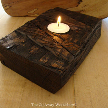Small rugged tea light holder