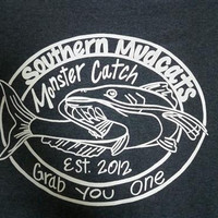 Southern Chaps Funny Southern Mudcat Fishing Country Bright T Shirt