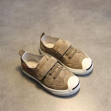 DCCKIX3 Summer Children Leather Stylish Casual Flat Shoes [4919273924]