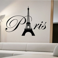 Paris Eiffel Tower Wall Decal Sticker Art Decor Bedroom Design Mural interior design family home decor art