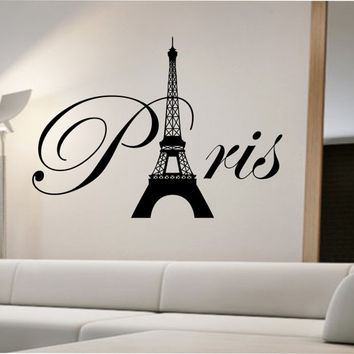 Paris Eiffel Tower Wall Decal Sticker Art Decor Bedroom Design Mural interior design family home decor