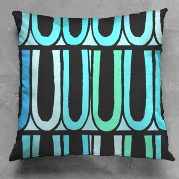Circus Trim Blue Pillow