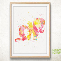 Pony Fluttershy - Watercolor Art Print, Room Decor, My Little Pony Poster, Home Baby Nursery Wall Art
