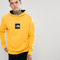 The North Face Fine Overhead Hoodie Box Logo in Yellow at asos.com