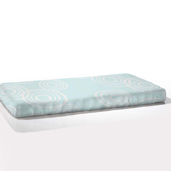 Organic Fitted Crib Sheets ~ Puddle Pattern (Various Colors)
