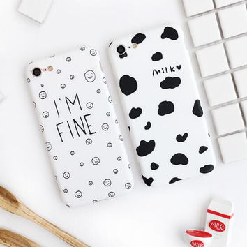 Cow lines phone case for iPhone 7 7plus 6 6S 6plus 6Splus 1107JM01