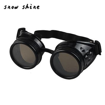 snowshine #3001xin Vintage Style Steampunk Goggles Welding Punk Glasses Cosplay/Black free shipping