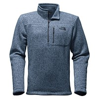 Men's Gordon Lyons 1/4 Zip Fleece in Heathered Shady Blue by The North Face