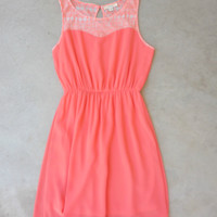 Summer Wonder Dress, Coral [7122] - $36.00 : Feminine, Bohemian, & Vintage Inspired Clothing at Affordable Prices, deloom