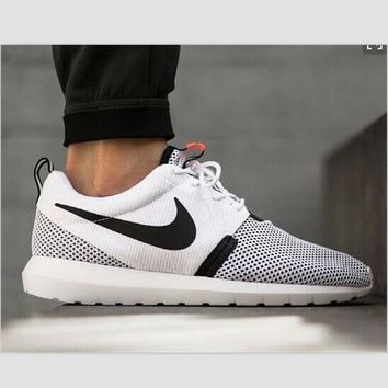 NIKE Women Men Running Sport Casual Shoes Sneakers White(dots)