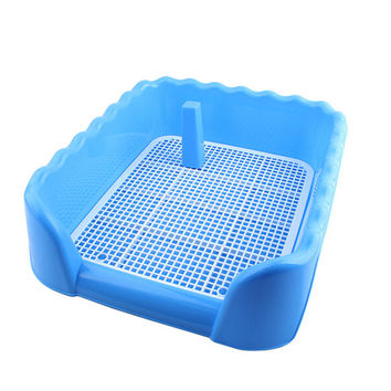 Indoor Dog Puppy Plastic Potty Training Dog Toilet with Fence and Target Pet Pee Toilet Blue Big