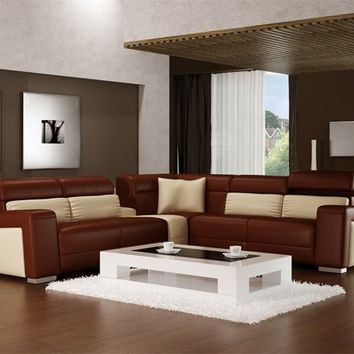 Jazz Contemporary Leather Sectional by Scene Furniture - Opulentitems.com