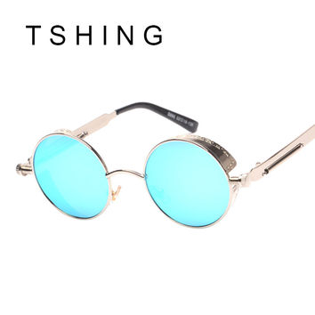 Mirrored Sunglasses Round Circle Sun glasses Women Retro Vintage