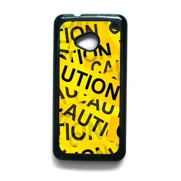 Caution Yellow Tape for HTC ONE M7/M8/M9 phonecases