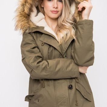 Adventure Awaits Coat - Olive