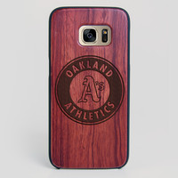 Oakland Athletics Galaxy S7 Edge Case - All Wood Everything