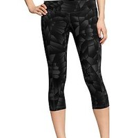 "Women's Old Navy Active Printed-Compression Capris (20"") 