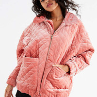 I.AM.GIA Contraband Quilted Velvet Jacket | Urban Outfitters