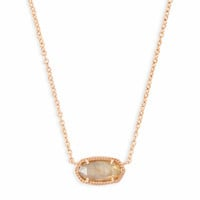 Elisa Rose Gold Pendant Necklace Brown Pearl | Kendra Scott
