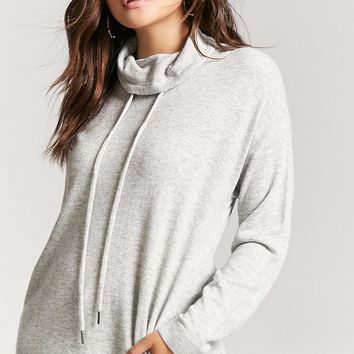 Heathered Cowl Neck Sweater