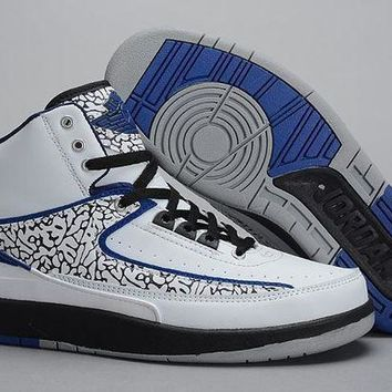 Air Jordan 2 Retro AJ2 White/Blue Basketball Sneaker Size US 8-13