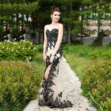 Long Prom Dresses Ever Pretty Mermaid Sweetheart Neck Appliques High Low Weddings Events Special Occasion Dresses
