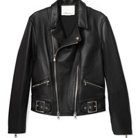 3.1 Phillip Lim Leather Moto Jacket - Black Jacket - ShopBAZAAR