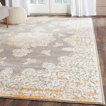 Safavieh Passion Watercolor Vintage Grey / Ivory Distressed Rug (4' x 5'7) | Overstock.com Shopping - The Best Deals on 3x5 - 4x6 Rugs