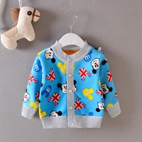 Baby coat 2016 Autumn Boys and Girls Cotton Long sleeve cardigan Baby Cartoon Warm jacket