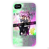 5Sos She Looks So Perfeck Nebula For iPhone 4 / 4S Case